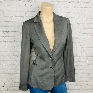 TED BAKER LONDON Gray 2-Button Wool Blend Blazer
